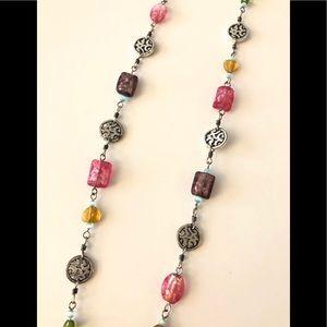 Brighton Silver Design Colorful Long Necklace